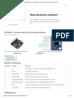 MPU6050 Pinout, Configuration, Features, Arduino Interfacing & Datasheet