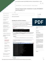 Huawei SAP HANA Appliance Single SAP Node Installation Guide (RH5885H and RH8100 V3+Broadwell+Redhat)