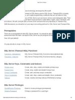 SQl Topics... SQL Serevr_Topics
