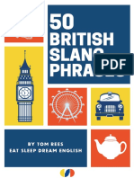 50 British Slang Phrases