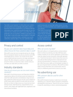 Microsoft Privacy Considerations in the Cloud