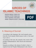 Group 4 (the Sources of Islamic Teachings)