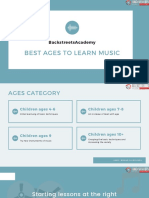 Best age for kids to learn music
