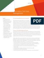 Informatica Test Data Management Data Sheet 3234en