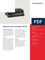 Kaba Access Manager 92 00 Factsheet