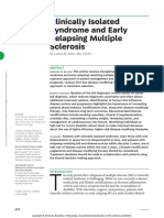 Clinically Isolated Syndrome and Early Relapsing Multiple Sclerosis
