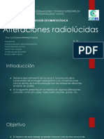 Alteraciones radiolúcidas