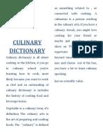 Culinary Dictionary