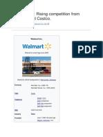 Walmart Case Study on SWOT Analysis