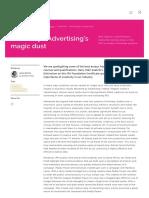 IPA _ Creativity - Advertising's Magic Dust