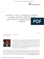 dont try coding abap core data service without this