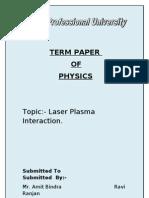 Ravi Ranjan Physics term paper final