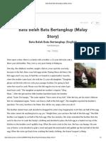Batu Belah Batu Bertangkup (Malay Story)