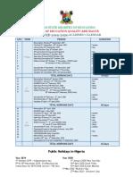 2019 2020 Academic Calendar Draft