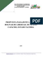 Propuesta Paisajistica Plaza Bolivar de Libertad, Municipio Capacho Viejo Estado Tachira