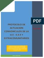 Protocolos de Actuaci--n Con Vehiculos de La UE- EEE y Extracomunitarios 20-7-2016