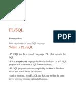 Plsql for Jpm