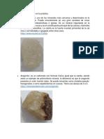 Minerales Identificados en La Práctica