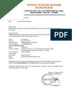 Surat Permohonan Akreditasi TK BERDIKARI