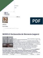 MODELO Declaración de Herencia (Seguro)