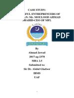 case study entreprenuership