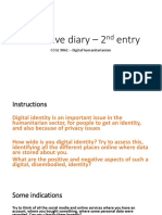 Reflective Diary – 2nd Entry (1)