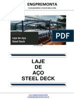 Laje de Aço Steel Deck