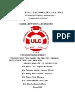 PRESUPUESTOS PROCESALES SEGUN  TC Y LA CORTE SUPREMA