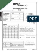 Thermodynamic Steam Trap TD52-Technical Information