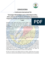 IX Conferencia Internacional Sobre Estrategias Metodológicas Para El Abordaje de Niños, Niñas y Jóvenes Con Trastorno Del Espectro Del Autismo (TEA)