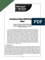 Cracking of Alloy 800H Reformer Riser