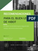 RECOMENDACIÓNES HIBOT