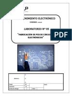 BbA - Lab 5 - Fabricación de PCB de Circuito Electronico
