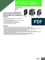 CJ2M CPU Data Sheet Tcm851-116410