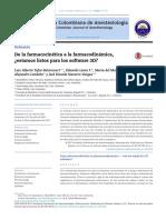 De La Farmacocinética a La Farmacodinámica[1]