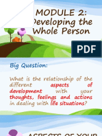 MODULE 2 - Developing the Whole Person