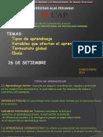 Tipos de Aprendisaje Variables Postato Global Yla Ebola