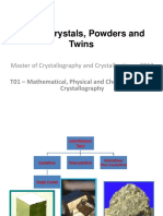 Single Crystals, Powders and Twins