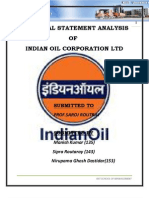 Financial Analysis of Indian Oil Ltd.