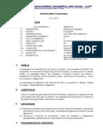 Silabo de Derecho Romano 2019-II Alvaro y Miguel Villa Grupo IV