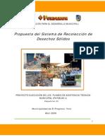 Plan Maestro de Recoleccion de Desechos Solidos EL Progreso