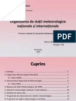 1. Organizarea de Stații Meteorologige Naționale Și Internaționale