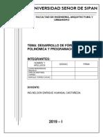 Desarrollo de Fórmula Polinómica y Programación de Obra