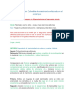 ProtocolizaciónColombiaMatrimonioCelebradoExtranjero