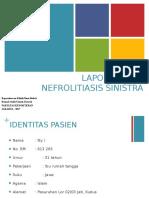 Laporan Jaga Nefrolitiasis Sinistra