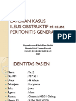 Laporan Jaga Suspek Peritonitis 2017