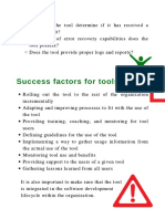 Test Tool Success Factors