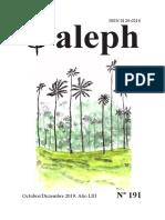 Aleph. Revista de Humanidades y Ciencias. Octubre - Diciembre 2019 . No. 191