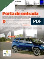 "DACIA DUSTER TCe 130 4X2 FRENTE AO SUZUKI VITARA 1.0 T 2WD NA ""CARROS & MOTORES"""