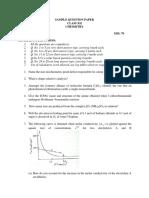 Sample paper for chemistry